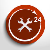 Vector repair icon. 24 hours service. — Vettoriale Stock