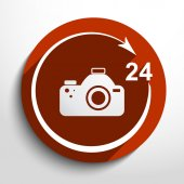 Vector photo studio. 24 hours service. — Vettoriale Stock