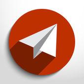 Vector flat paper plane web icon. — Stock vektor