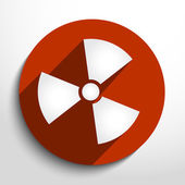 Vector radiation web icon. — Stock Vector