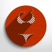 Vector swimsuit icon illustration. — Vettoriale Stock