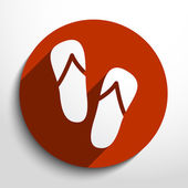 Vector beach sandals web icon. — Vetor de Stock