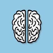 Icona del cervello piatto umano di vettore. — Vettoriale Stock