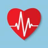 Vector cardiogram or heart rhythm medical icon. — Stock Vector