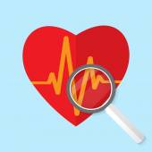 Vector cardiogram or heart rhythm medical icon. — Stock Vector