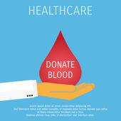 Vektor-Medizin und Gesundheit-Hintergrund. Blut spenden. — Stockvektor