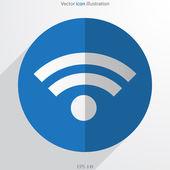 Vector wi fi web flat icon — Stock Vector