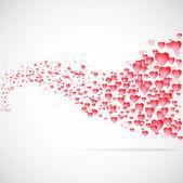 Plano de fundo de corações de vector. — Fotografia Stock