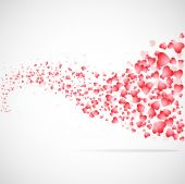 Vector hearts flat background. — Stock Photo