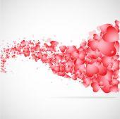 Vector hearts flat background. — Stock Vector