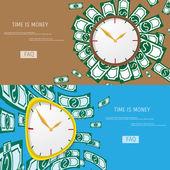 Tid är pengar. — Stockvektor