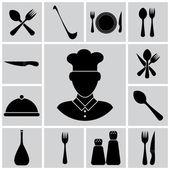 Vector cutlery icon set — Stock Vector