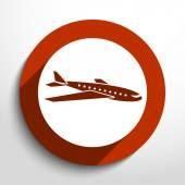 Icono de vector viajes avión — Vector de stock