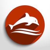 Vector dolphin icon — Stock Vector