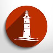 Vector lighthouse icon — Stock Vector