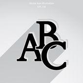 Vector icône abc — Vecteur