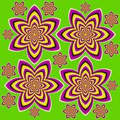 Flowers (motion illusion) — Stock vektor