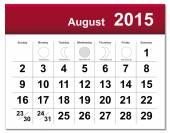 August 2015 calendar — Stock Vector