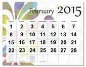 Februari 2015 kalender — Stockvektor