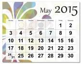 May 2015 calendar — Stock Vector