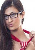 Young woman, studio shot — Foto de Stock