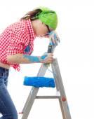 Painter female — Stock Photo