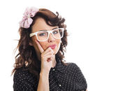 Young trendy woman — Stock Photo