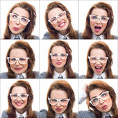 Composition or collage of different lot expressions — Stockfoto