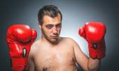 Knockout - Funny boxer — Stock Photo