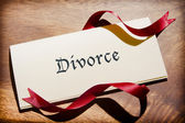 Still Life Of Divorce Document On Wooden Desk — Foto Stock