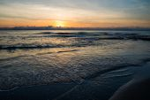 Sea sunset in Torrevieja beach. — Stock Photo