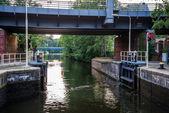 Lock river. — Stock Photo
