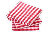 Folded fabric, gingham pattern — Fotografia Stock