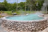 A tub full of hot water at San Kamphaeng Hot Springs — Stock Photo