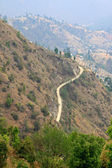 Road and villages on mountains in Dhulikhel, Nepal — Stock Photo