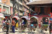 3 wheeled rickshaws in Kathmandu, Nepal — Stock Photo
