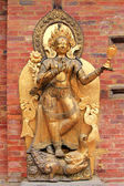 Statue of the river goddess Ganga standing on a Makara at Royal Palace in Patan, Nepal — Stock Photo