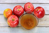 Apple cider vinegar with mother enzymes — Stock Photo
