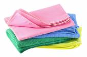 Different types of Micro Fiber cleaning cloth — Stock Photo