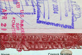 Visa to The United States of America — Stock Photo