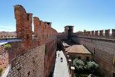 Castle Fortress (Castelvecchio) in Verona, Italy — Stock Photo