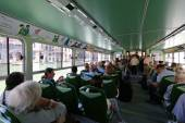 Inside the public water taxi or water bus (Vaporetto) in Venice, Italy — Stock Photo