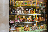 A Pastry shop selling sweet food and Limoncello in Venice, Italy — Stock Photo