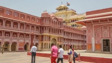 Chandra Mahal in City Palace, Jaipur, India — Stock Video
