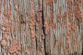 Old wooden planks with cracked paint reddish — Stock Photo