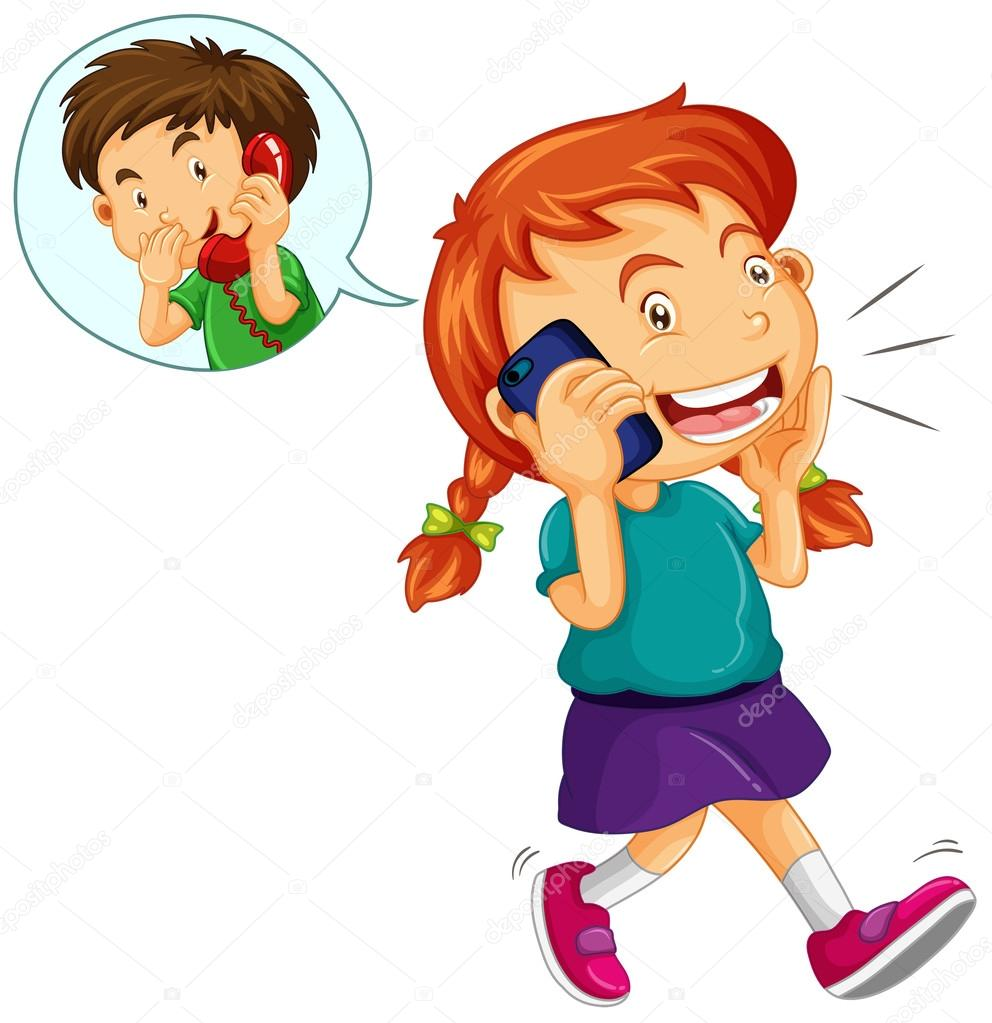 Free Talking on Phone Clipart and Vector Graphics page 3