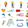Construction worker set — Stock Vector #51971995