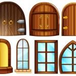 Doors and windows — Stock Vector #51972619