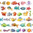 Fish collection — Stock Vector #51972633
