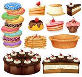 Desserts — Stock Vector